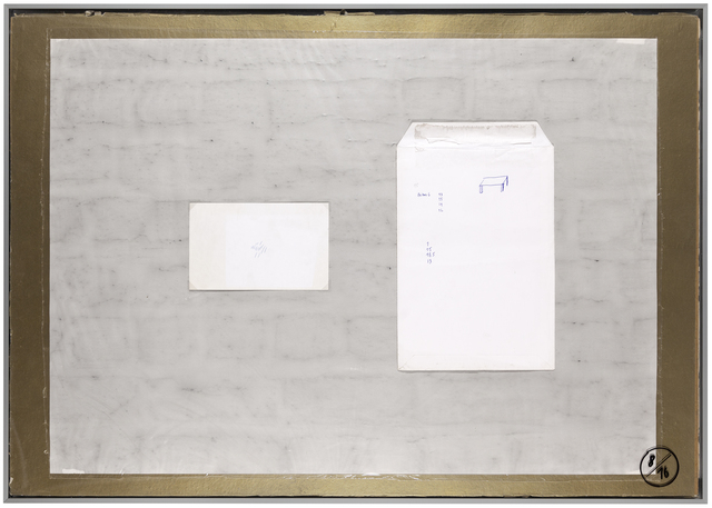 , 'Planche d'atelier 8/16 - série Pauvres Sujets / gold,' 2016, Galerie nächst St. Stephan Rosemarie Schwarzwälder