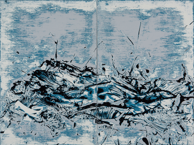 , 'Ocean Ceremony (diptych),' 2015, Tim Klingender Fine Art