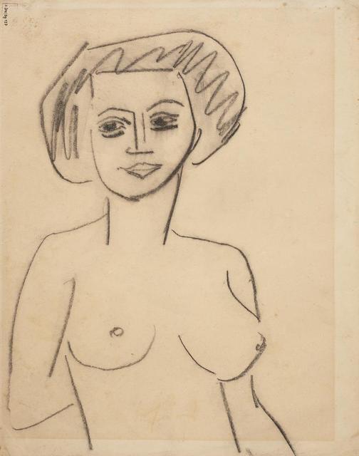 Ernst Ludwig Kirchner, 'Atelierszene (Recto) - Weiblicher Akt (Verso)', 1908/1910, Itineris