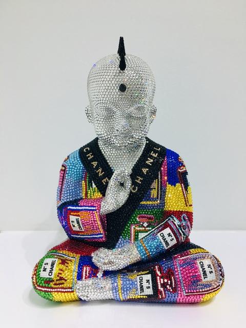 ", 'PUNKBUDDHA ""CHANEL No. 5 in Multicolor III"" feat. Warhol,' 2019, Galerie de Bellefeuille"