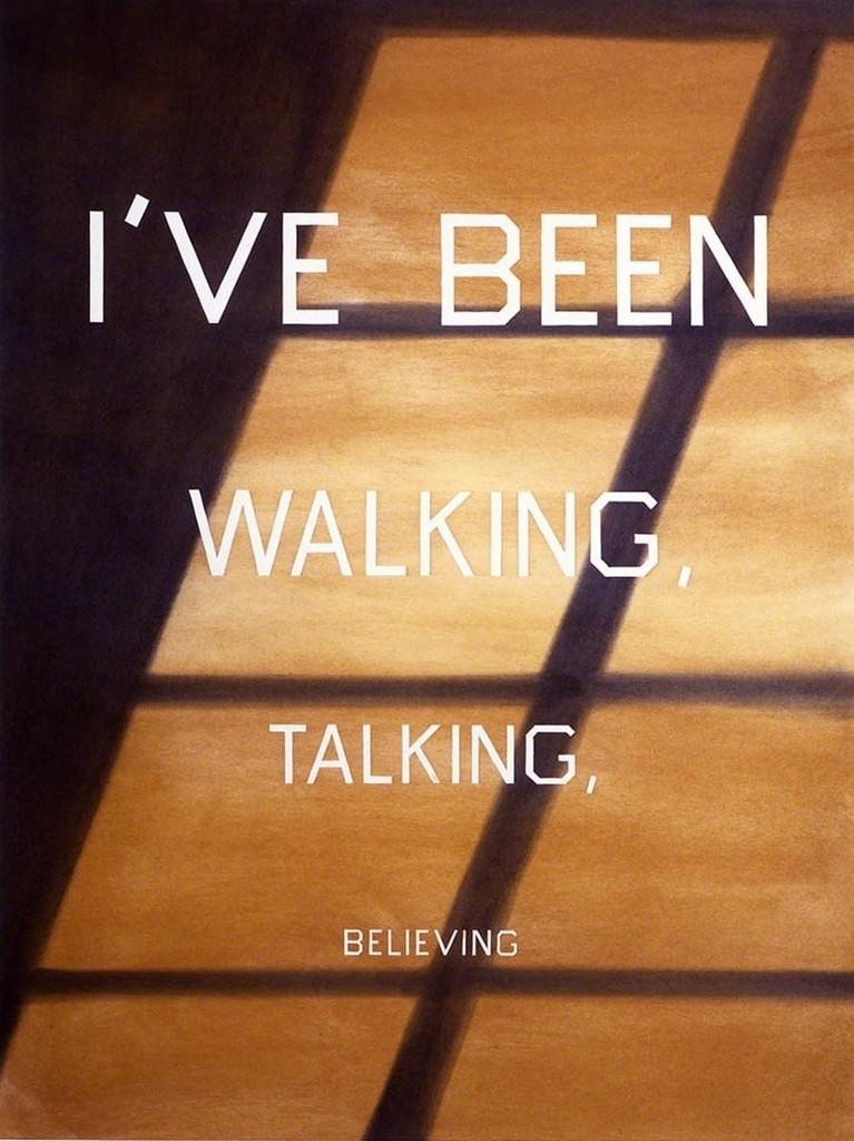 Ed Ruscha, 'Walking, Talking, Believing,' 1986, Gagosian