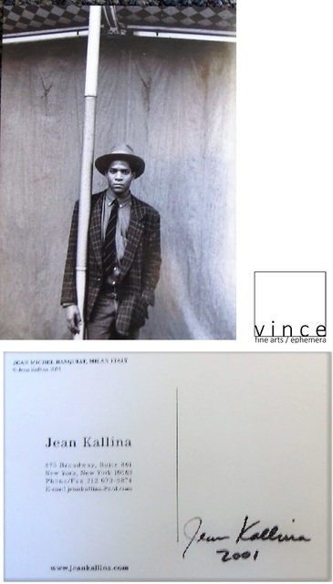 ", '""BASQUIAT"", 2001, Postcard by Kallina, Signed by Jean Kallina,' 2001, VINCE fine arts/ephemera"