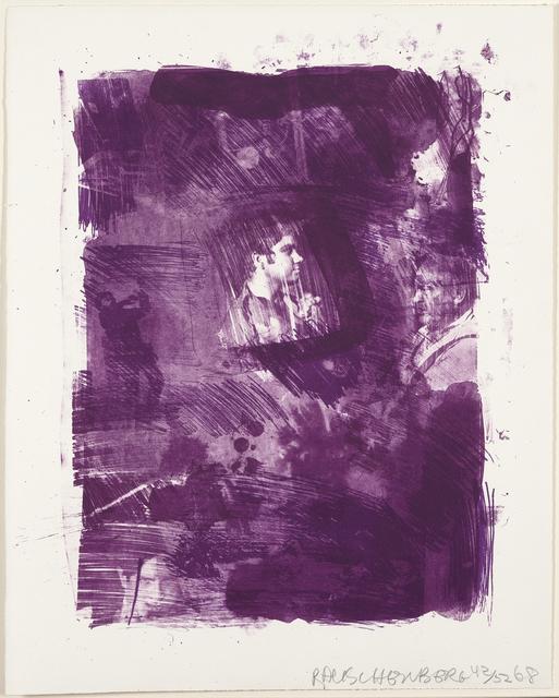 Robert Rauschenberg, 'Flower Re-Run', 1968, Print, Lithograph on paper, Caviar20