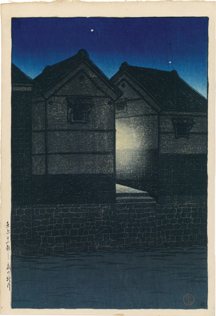 , 'Shinkawa at Night,' 1919, Egenolf Gallery Japanese Prints & Drawing