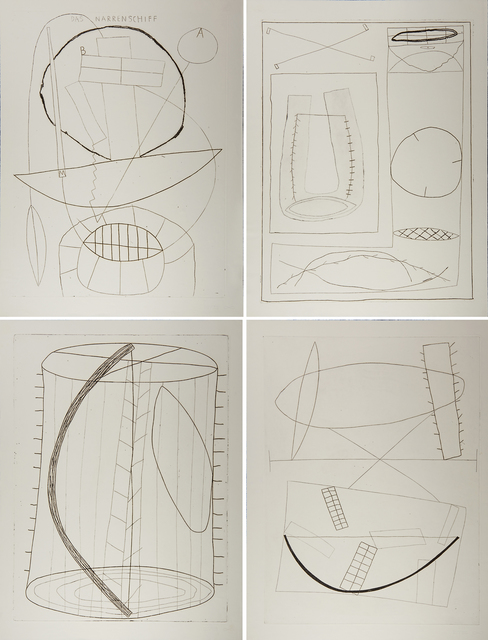 Jürgen Partenheimer, 'The San Francisco Etchings: Ship of Fools', 1984, Print, Four etchings on paper, Rago/Wright