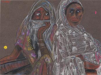 Ethiopian Women Wearing Traditional Shamma