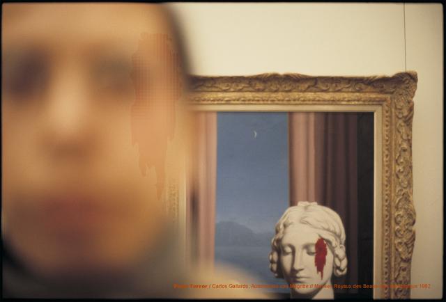 , 'Pixel Terror, Autorretrato con Magritte,' 1982, Isabel Croxatto Galería