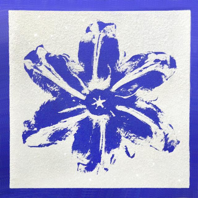 Rubem Robierb, 'Power Flower - Blue on White ', 2018, Taglialatella Galleries