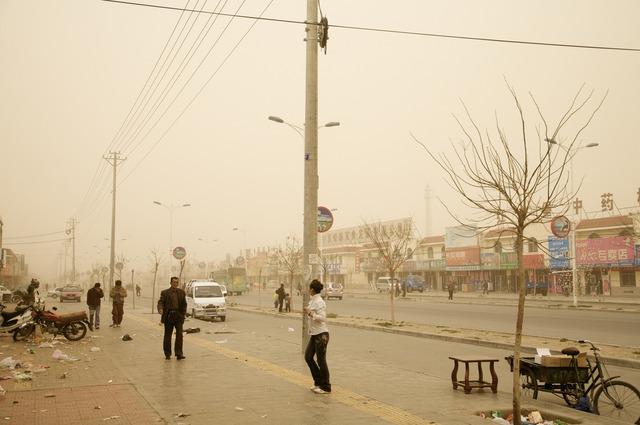 , 'Tempête è Hongsibao, Chine (Le Dust Bowl chinois),' 2007, Galerie Hugues Charbonneau