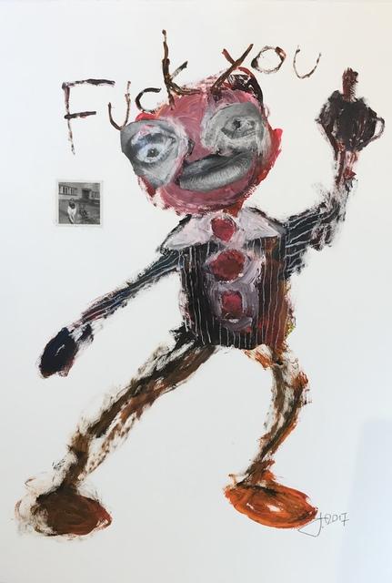 , 'Fuck you,' 2017, Galeria Contrast