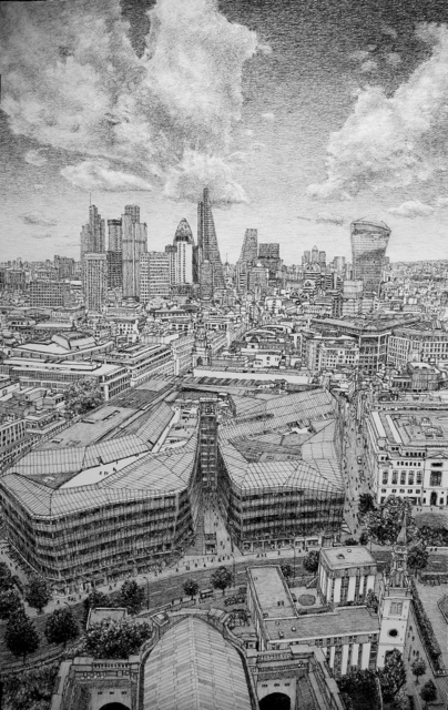 , 'London, East from St Paul's,' 2017, Rebecca Hossack Art Gallery