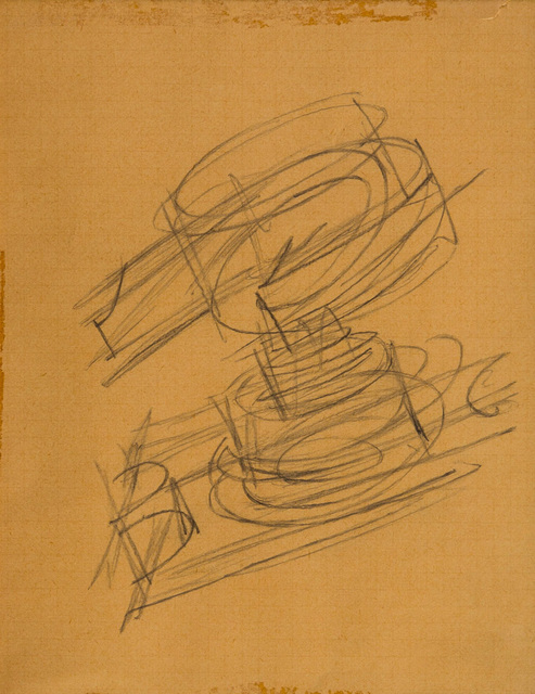 Fortunato Depero, 'Untitled', Drawing, Collage or other Work on Paper, Pencil drawing on paper, ArtRite