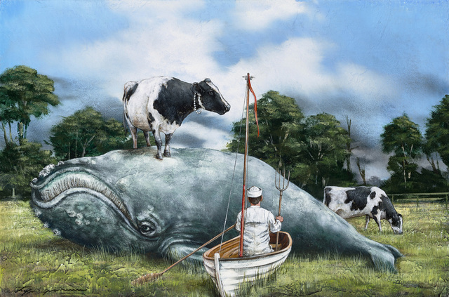, 'Seaside Farm,' 2018, Sue Greenwood Fine Art