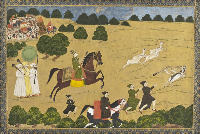'Prince Hunting with Cheetah', ca. 1764, Los Angeles County Museum of Art