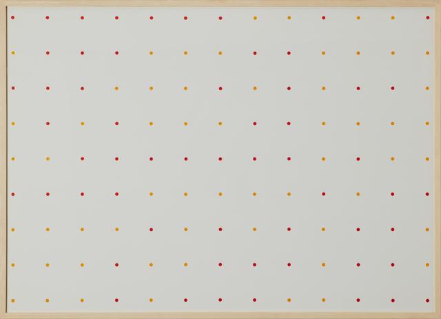 , 'random dot grid pattern v 73-121,' 1973, Cortesi Gallery
