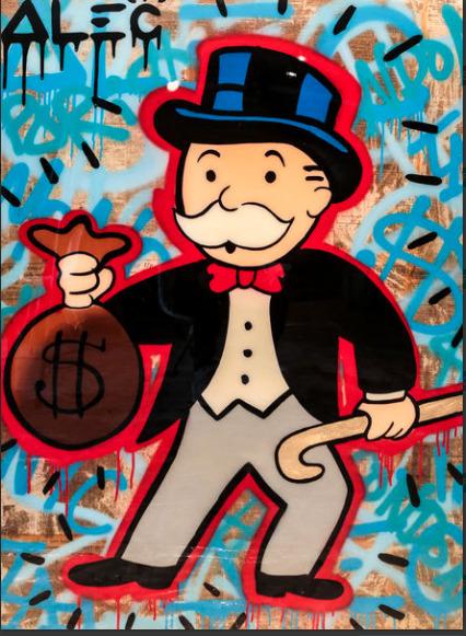 , 'Monopoly holding Money bag-Red$ Graffiti ,' 2017, Eden Fine Art