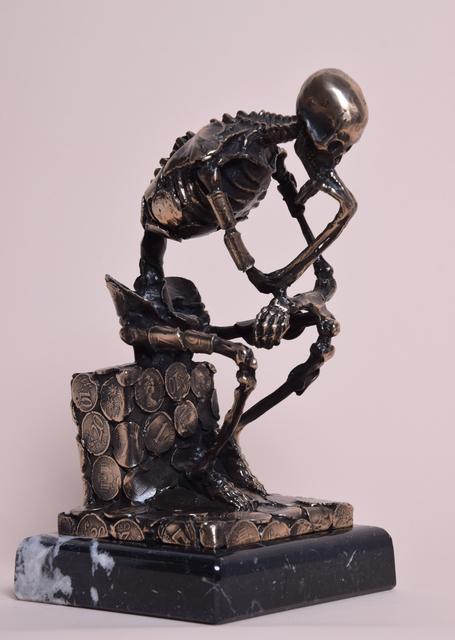 Wu Shaoxiang 吴少湘, 'Thinker 思想者', 2017, Sculpture, Bronze 青铜, Linda Gallery