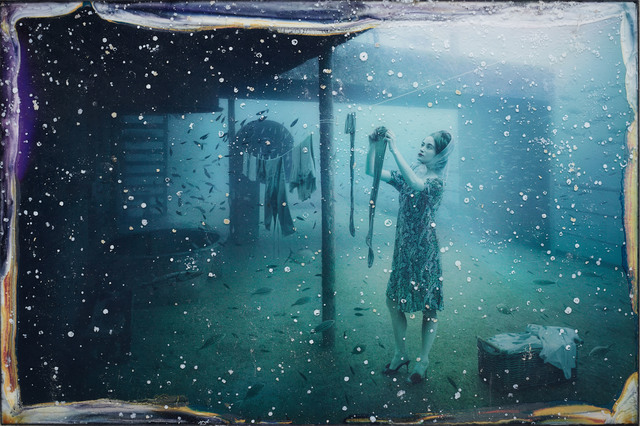Andreas Franke, 'Mrs. Smith (The Sinking World–Vandenberg Project)', 2011, Mixed Media, Photographic print mounted on dibond behind acrylic with ocean patina, Rosenbaum Contemporary