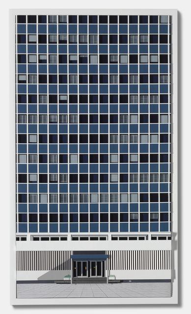 Lucy Williams, 'Bis Heute', 2011, Mixed Media, Paper, acrylic paint, Perspex, ABS plastic strip, balsa wood, Pantone Letratint Color/Tint Overlay film, cast Jesmonite panel on board, Berggruen Gallery