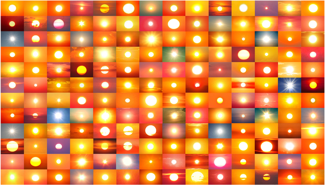 Penelope Umbrico, '39,019,893 Suns from Sunsets from Flikr (Partial) 11/12/18', 2018, David B. Smith Gallery
