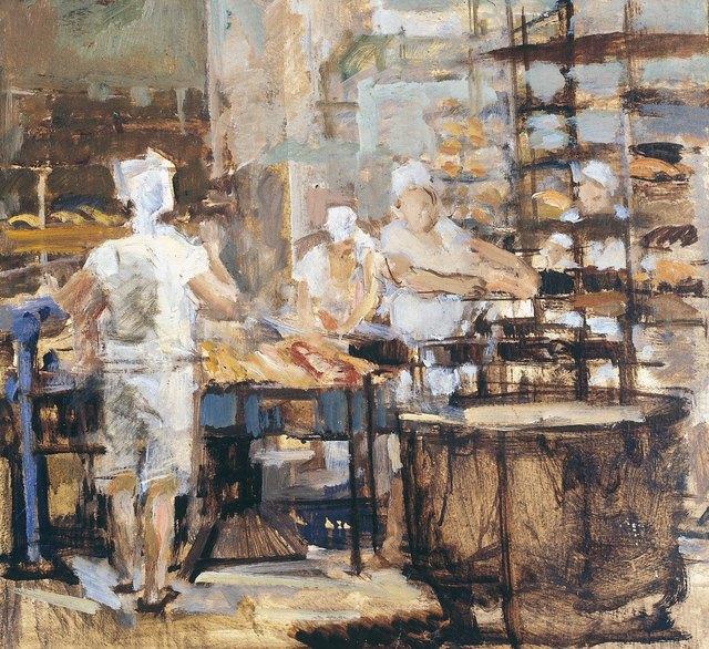 Vyacheslav Orlov, 'At work', 1949, Surikov Foundation