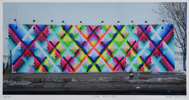Maya Hayuk, 'Chem Trails (Bowery Wall) NYC', 2014, Roseberys