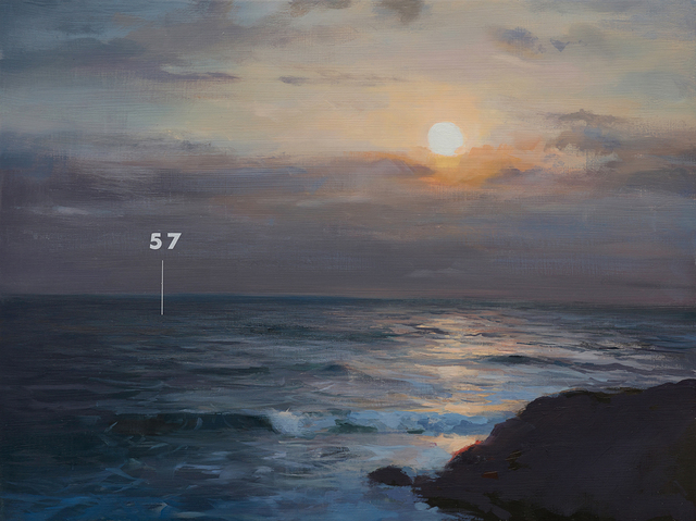 , 'Fathom Seascape no. 4,' 2015, Lazinc