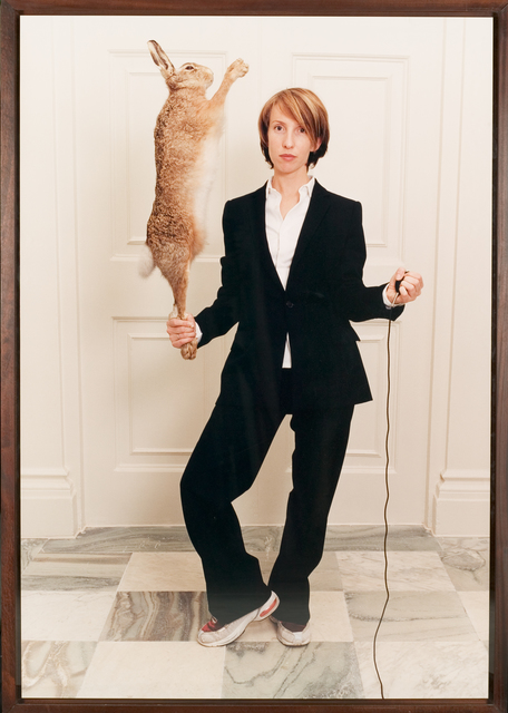 , 'Self Portrait in a Single Breasted Suit with Hare,' 2001, CAMERA WORK