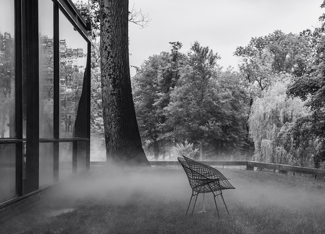 Richard Barnes, 'Bertoia, Glass House', 2014, Photography, Archival inkjet print mounted to archival substrate, framed in black with UltraVue70, Bau-Xi Gallery