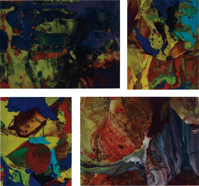Gerhard Richter, 'Four works: (i) Aladin (P10); (ii) Bagdad (P9); (iii) Bagdad (P10); (iv) IFRIT (P8)', Each 2010, Phillips