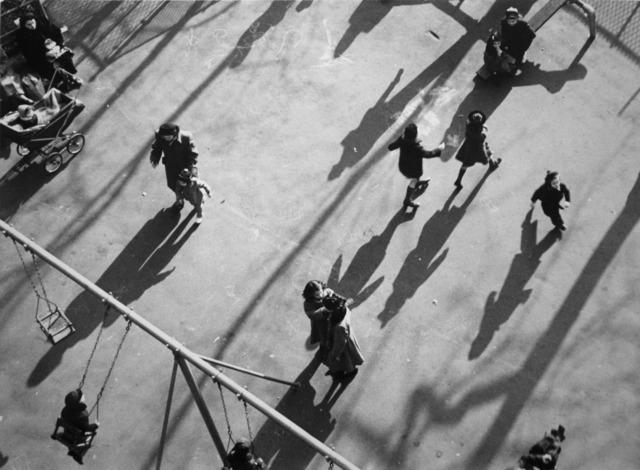 André Kertész, 'Children and Shadows in Park', 1951, Bruce Silverstein Gallery
