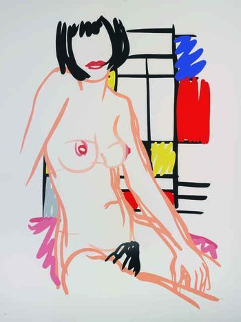 , 'Monica Sitting with Mondrian,' 1989, Vertu Fine Art