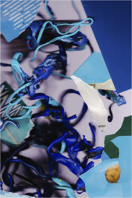 , 'baldessari in blues,' 2017, Barry Whistler Gallery