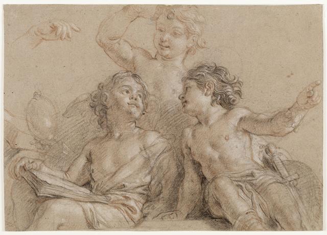 , 'Trois jeunes génies (Three Young Geniuses),' 17th century, Château de Versailles