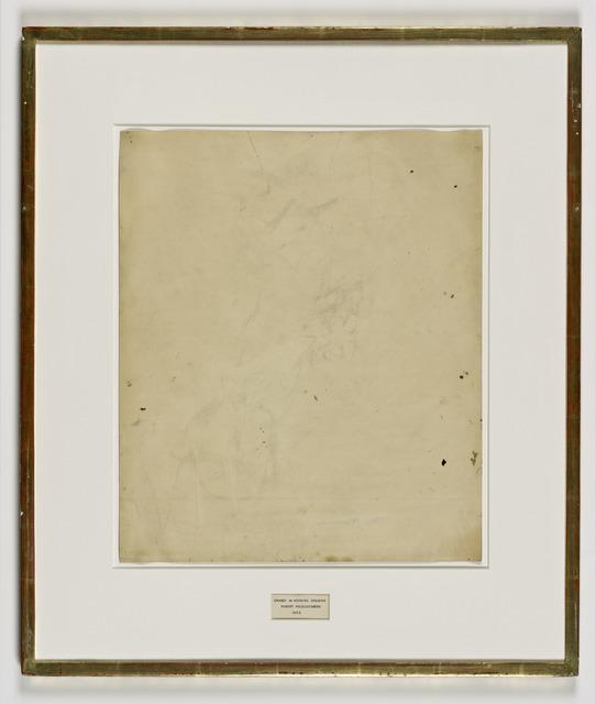 Robert Rauschenberg, 'Erased de Kooning Drawing', 1953, San Francisco Museum of Modern Art (SFMOMA)