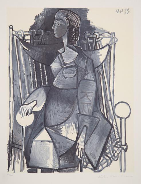 Pablo Picasso, 'Femme Assise dans un Fauteuil Tresse, 1953', 1979-1982, Print, Lithograph on Arches paper, RoGallery