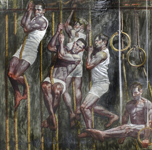 , 'Five Gymnasts in Training,' date unknown, Carrie Haddad Gallery