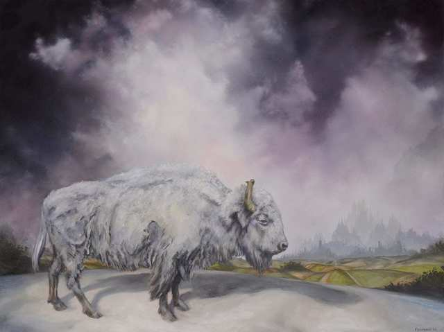 Brian Mashburn, 'White Buffalo', 2021, Painting, Oil on canvas, Haven Gallery