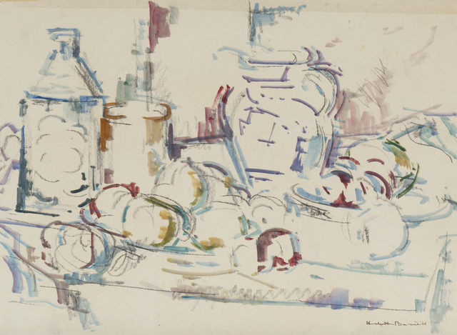 , 'Study for Compote and Blue Pitcher,' 1964, Childs Gallery