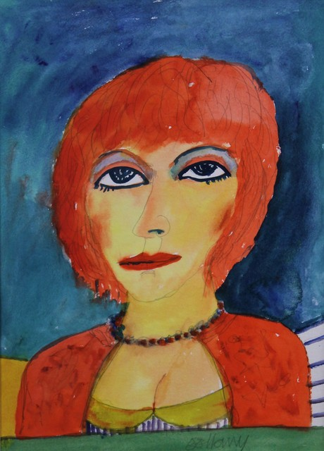 , 'Woman with red hair,' , Castlegate House Gallery