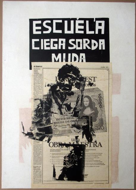 , 'Escuela ciega, sorda, muda,' 1981-1982, Herlitzka + Faria