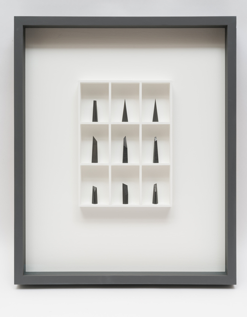 Paul Fry, '9 pieces of graphite (the edge of silence)', 2019, bo.lee gallery
