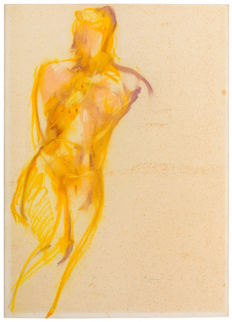 Giuseppe Ajmone, 'Nude', 1960, Drawing, Collage or other Work on Paper, Mixed media on paper laid down on canvas, ArtRite
