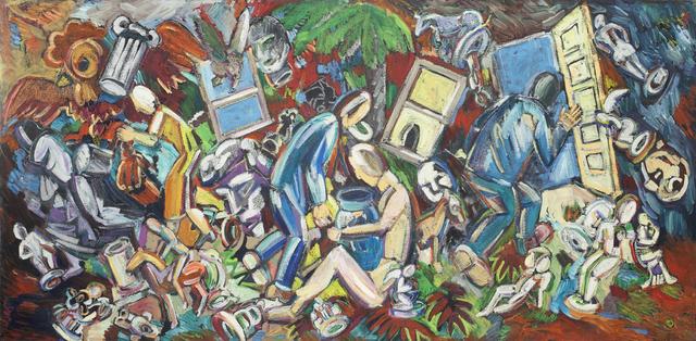 , 'Studio View: Seated Woman, Vase on Lap,' 1986, Nancy Hoffman Gallery