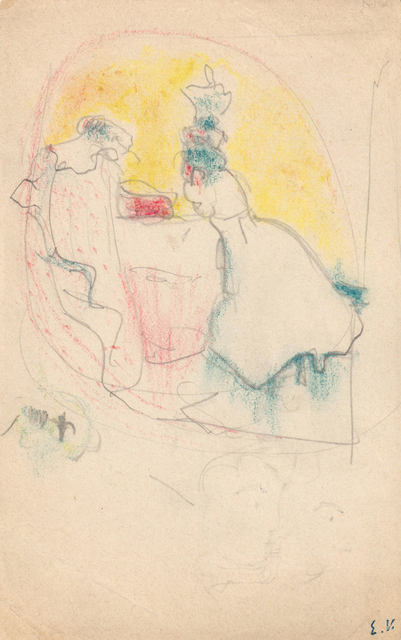 ", 'Study for ""Les deux belles-soeurs"",' 1898-1899   , Jill Newhouse Gallery"
