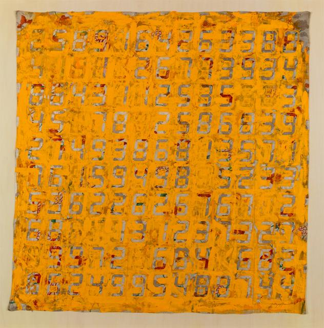 , 'Counter Painting on KIMONO - Yellow,' 2013, SCAI The Bathhouse