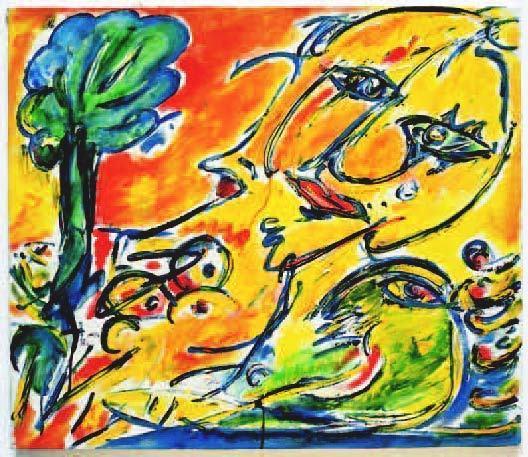 Carl-Henning Pedersen, 'No title, Molesmes', 1985, Painting, Oil on canvas, Lorenzelli arte