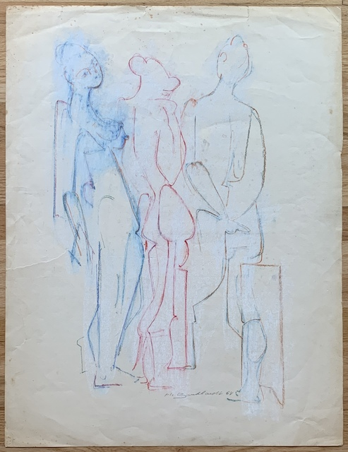 Hans Burkhardt, 'Untitled (Three Nudes in Red, White and Blue)', 1968, Kwiat Art