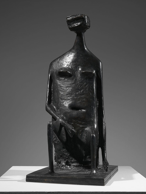 , 'Seated Woman with Square Head,' 1955, Osborne Samuel