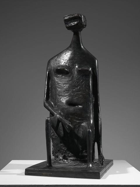 , 'Seated Woman with Square Head,' 1955, Osborne Samuel